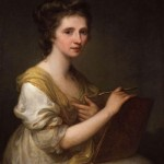 self-portrait of Angelica Kauffman