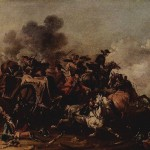 Cavalry Attack on a Wagon