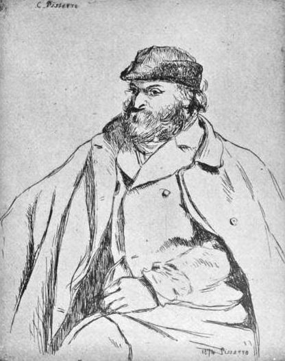 portrait by Camille Pissarro