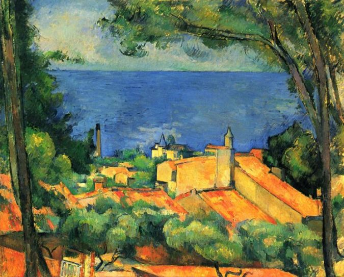 landscape painting by paul cezanne