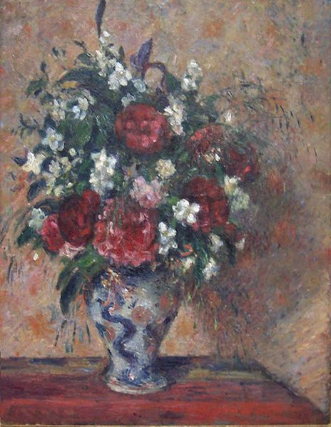 floral still life by camille pissarro