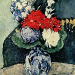 Still Life, Delft Vase with Flowers
