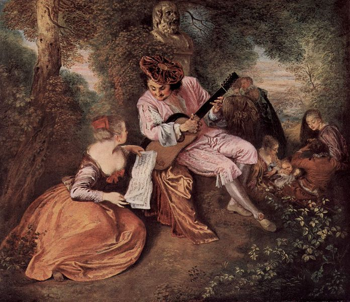 The Love Song Famous Painting