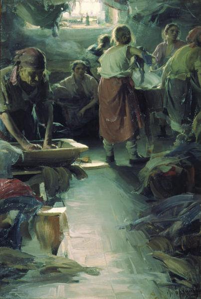 painting by Abram Arkhipov