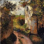 A Peasant in the Lane at l'Hermitage, Pontoise