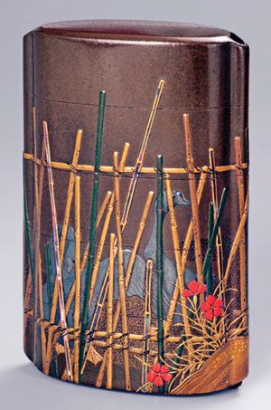 lacquered container painted by Shibata Zeshin