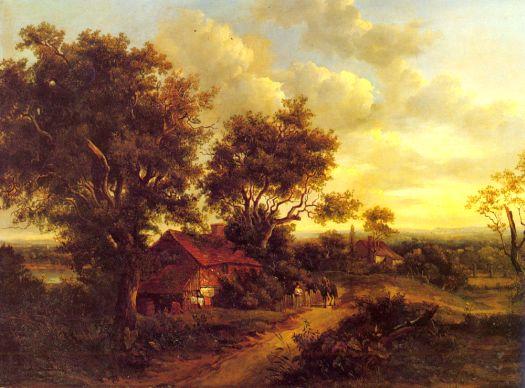Landscape With A Cottage Near Dorking By Patrick Nasmyth