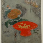 sake bowl, chrysanthemum and butterfly