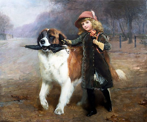off to school painting by the English artist Charles Burton Barber