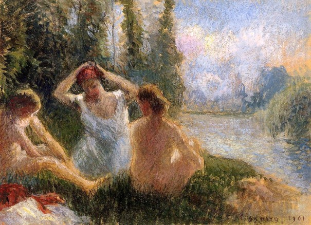 painting by the famous artists Camille Pissarro