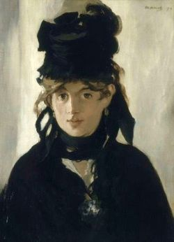 portrait of Berthe Morisot by Edouard Manet