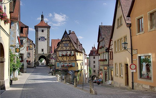 photograph of rothenburg, germany