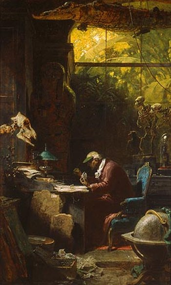 famous painting by Carl Spitzweg