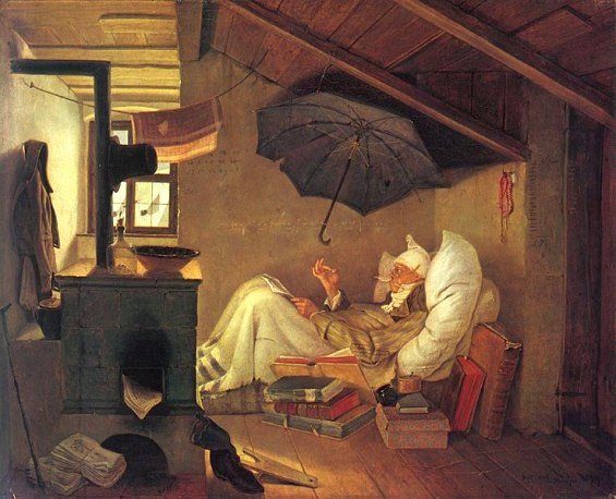 painting by the famous artist Carl Spitzweg