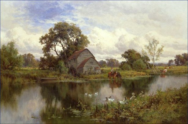 landscape painting by Henry H. Parker