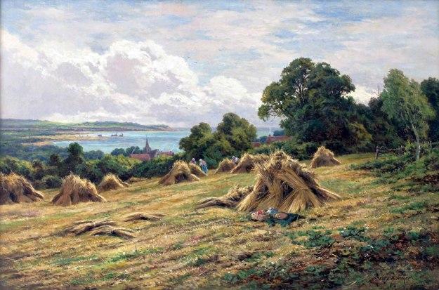 landscape painting by Henry H. Parker