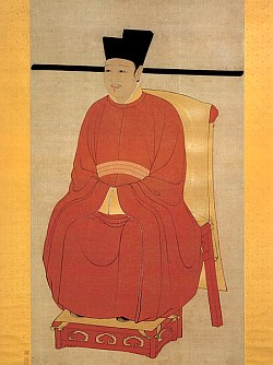 portrait of Zhao Ji, Emperor Huizong of the Song Dynasty of China