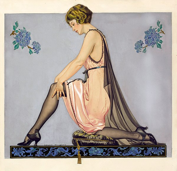 watercolor painting by Coles Phillips