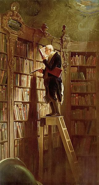 painting by the famous German artist carl spitzweg