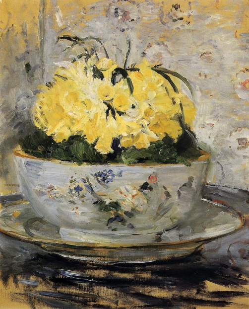 flower painting by Berthe Morisot