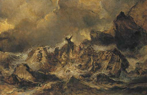 the shipwreck by eugene isabey