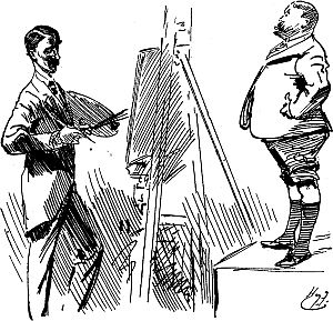 caricature of harry furniss and charles burton barber