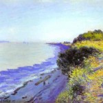 Alfred Sisley - Bristol Channel from Penarth, Evening - Wallpaper