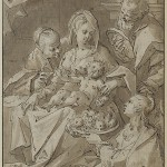 The Holy Family with Saint Dorothea offering fruit to the Christ child