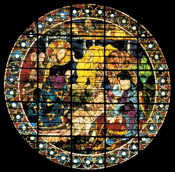 stained glass window by Paolo Uccello