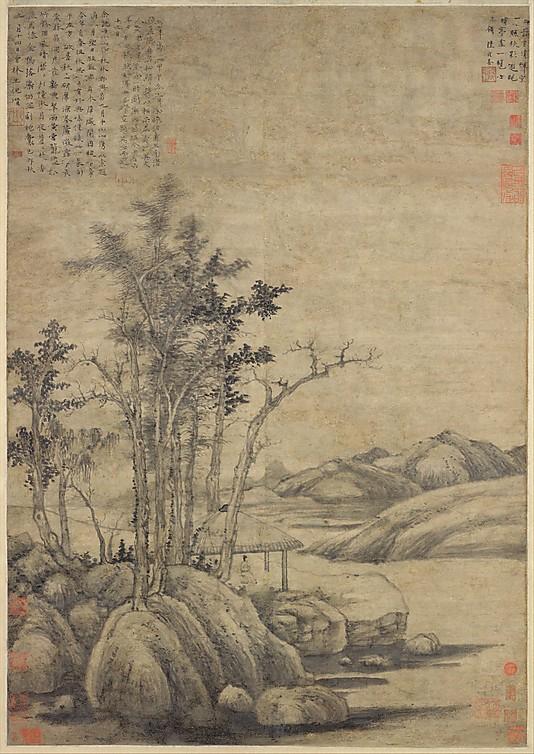 Chinese landscape painting by Ni Zan