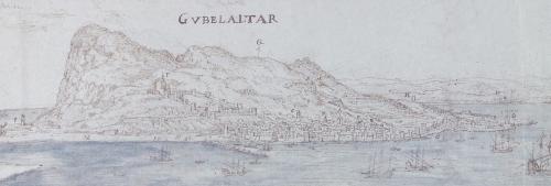 gibraltar by Anton van den Wyngaerde