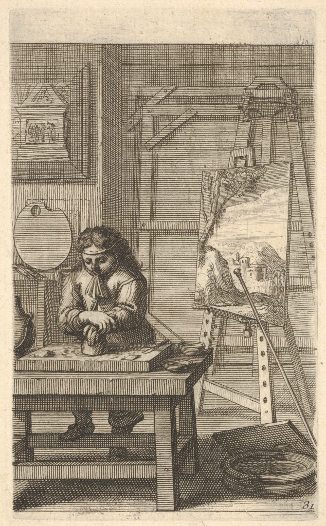 A Painter in His Studio by Abraham Bosse
